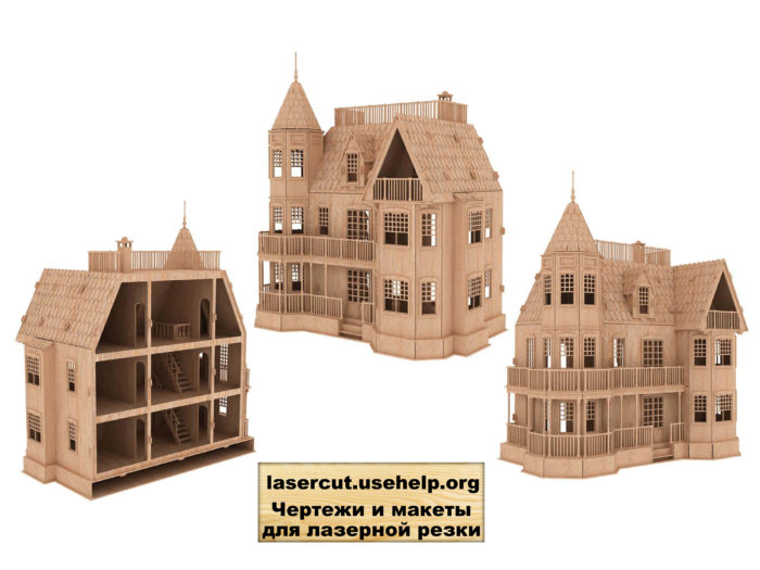 Чертеж замок из фанеры №1