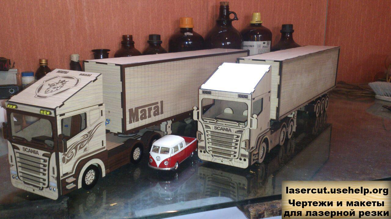 Чертеж Модель автомобиля Scania R580