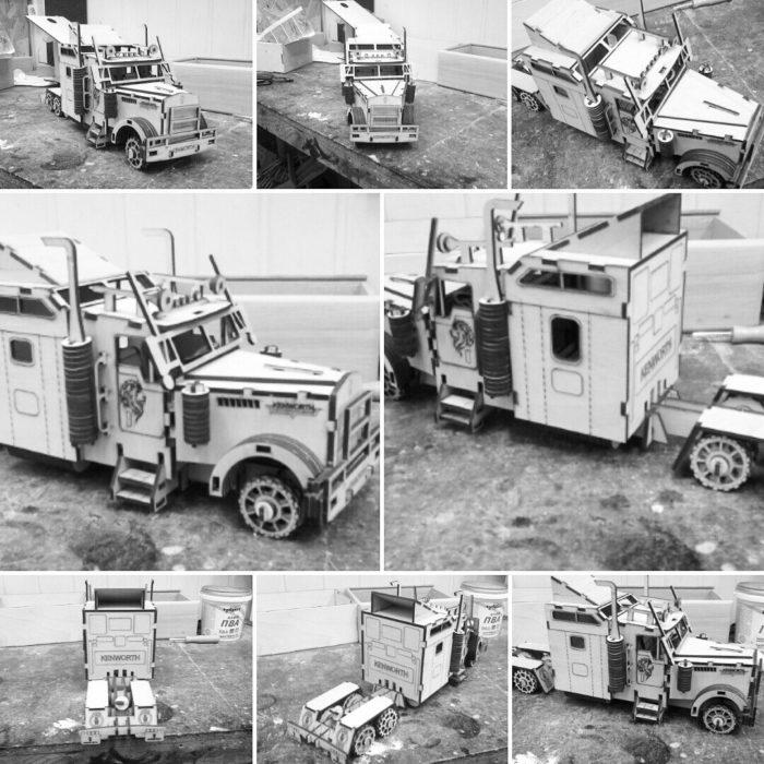 Чертеж грузовика Kenworth W 900