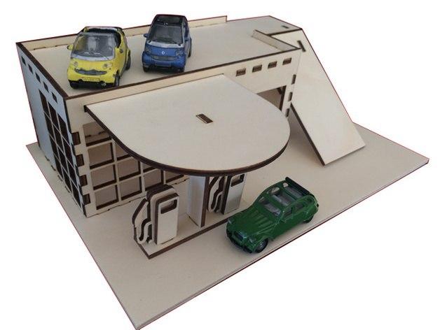Чертеж парковка из фанеры 3 мм №5
