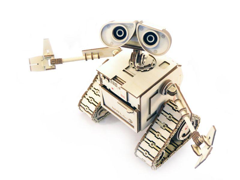 Чертеж робота Валли для лазерной резки