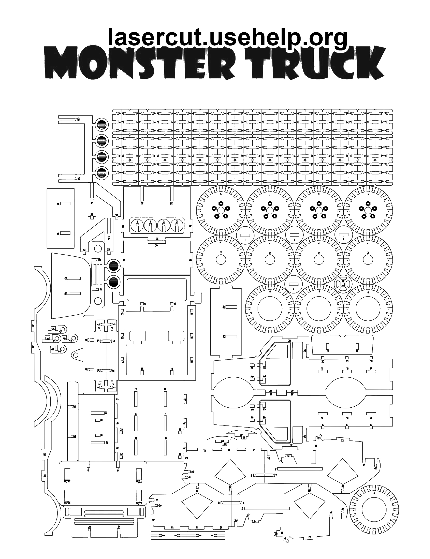 Чертеж Monster Truck