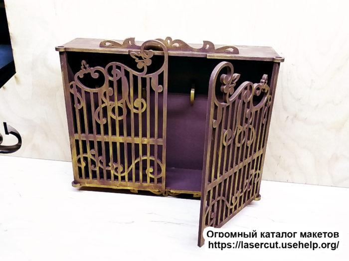 Макет ключницы Ворота №1 из фанеры