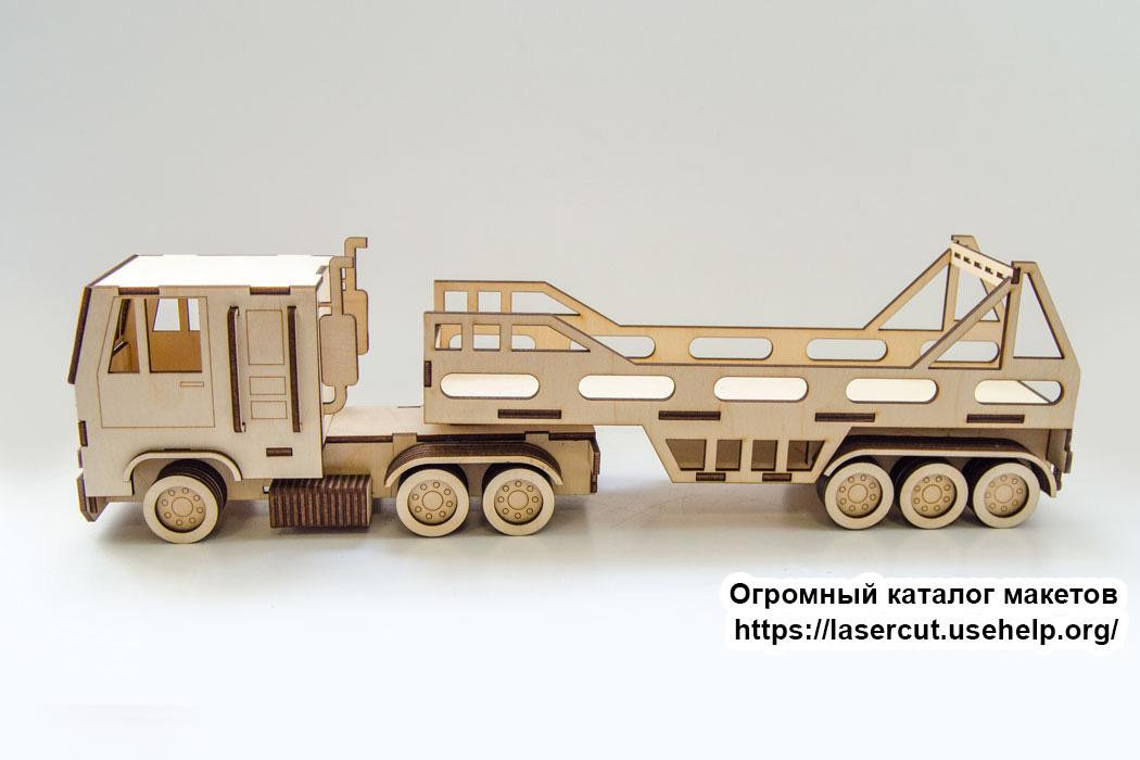 Макет грузовик из фанеры