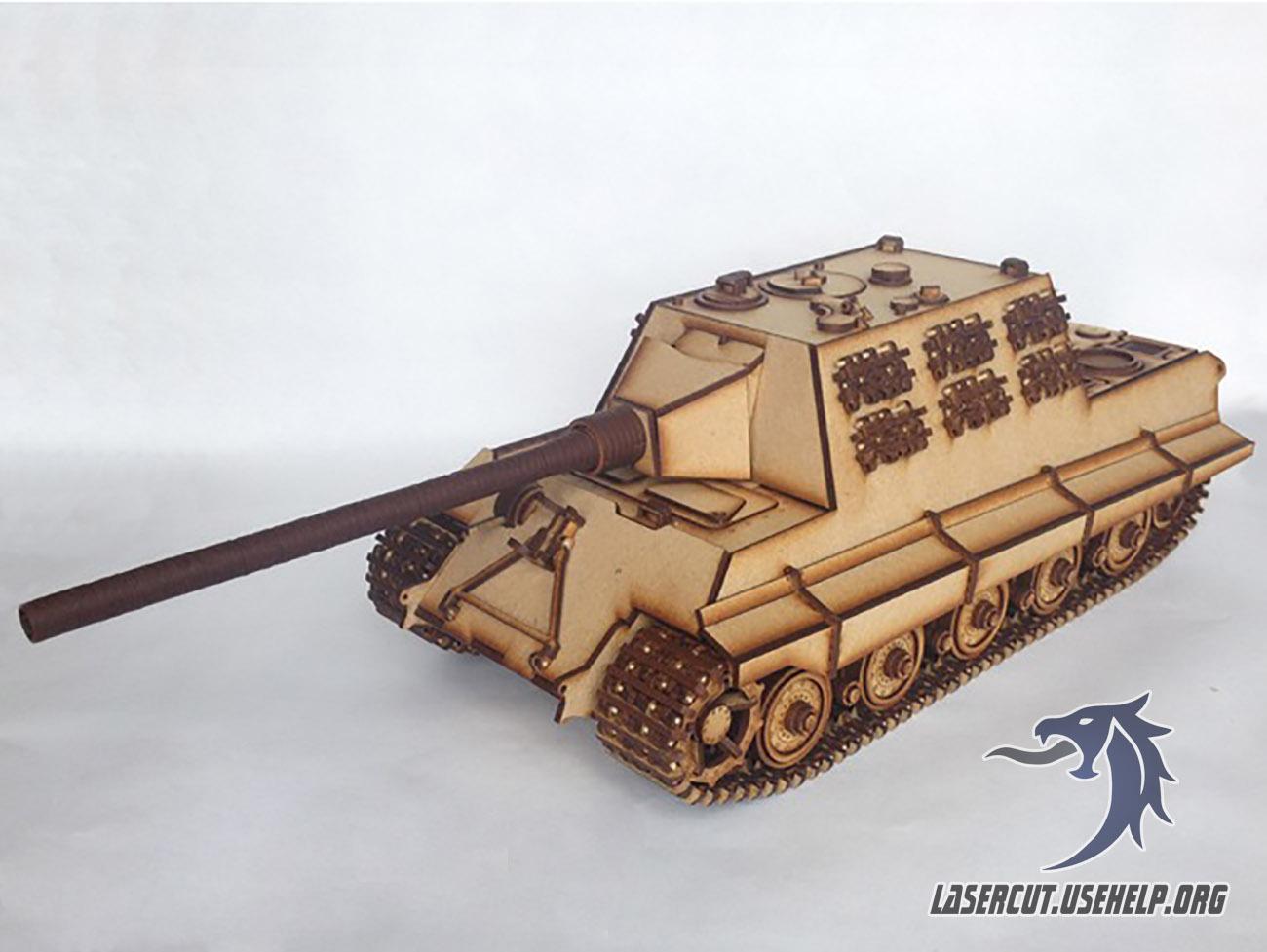 Макет Танк Jagdtiger из фанеры