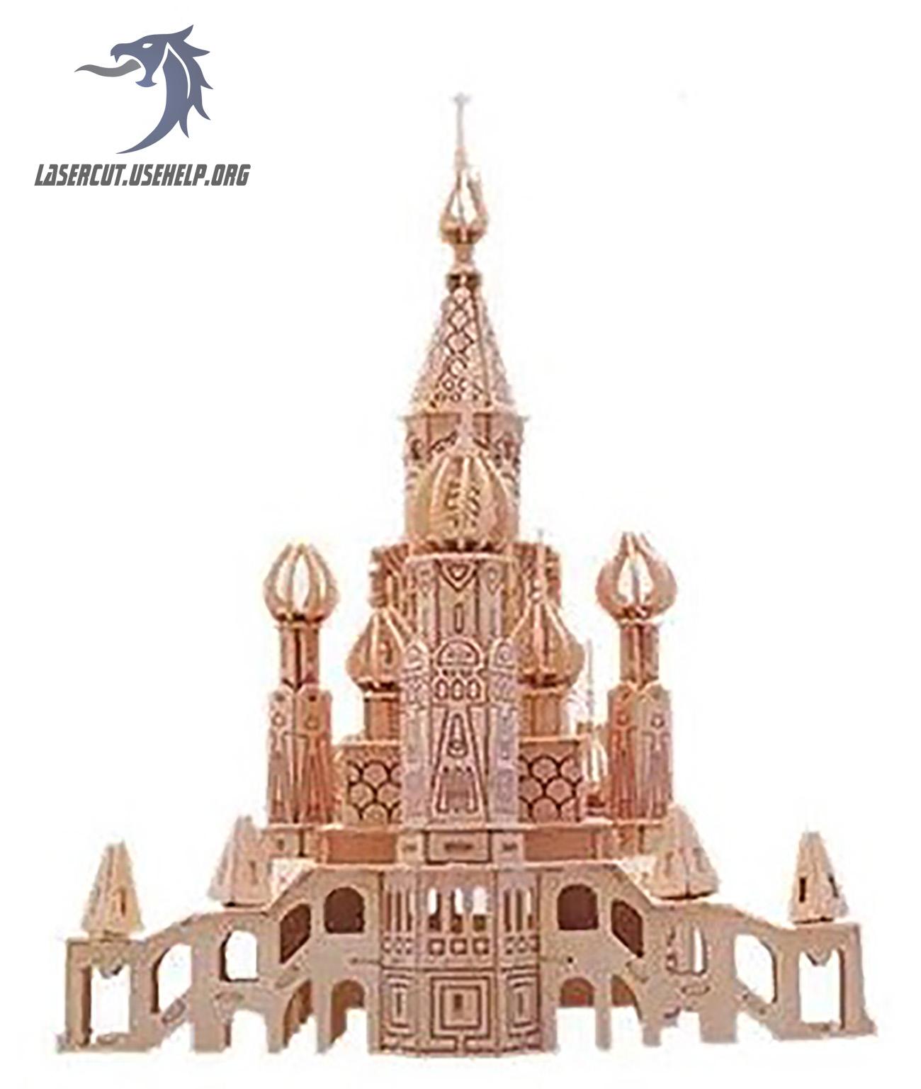 Макет Церковь из фанеры