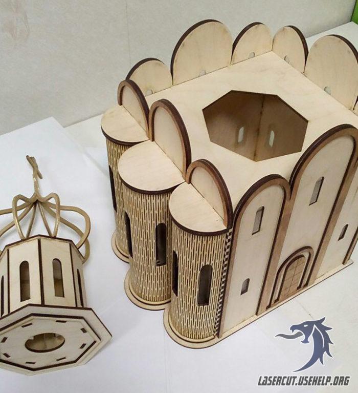 Макет Церковь тайник из фанеры