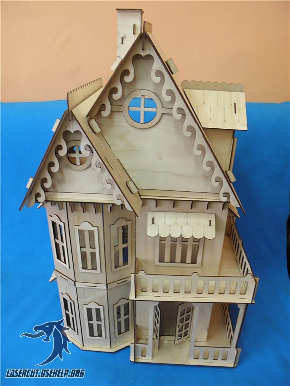 Макет Кукольный дом Вилла №2 из фанеры