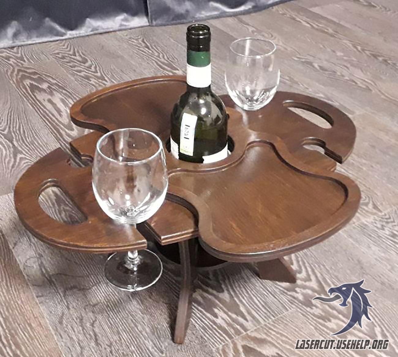 Макет Мини столик для вина №1 из фанеры
