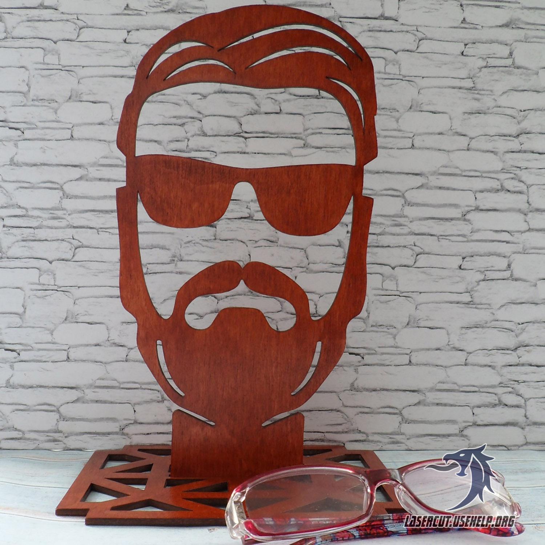Макет Подставка под очки (голова) из фанеры