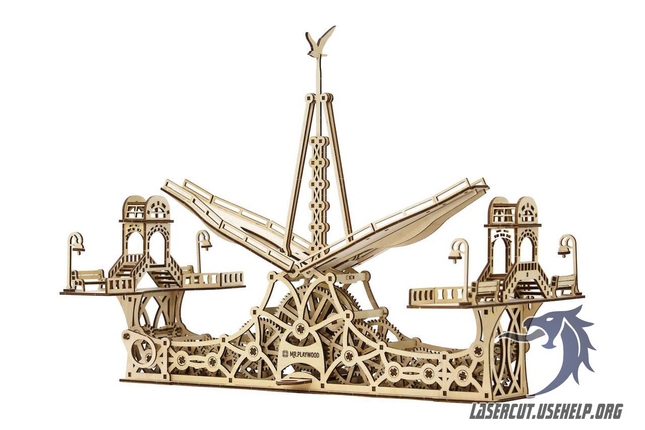 Макет Разводной мост из фанеры