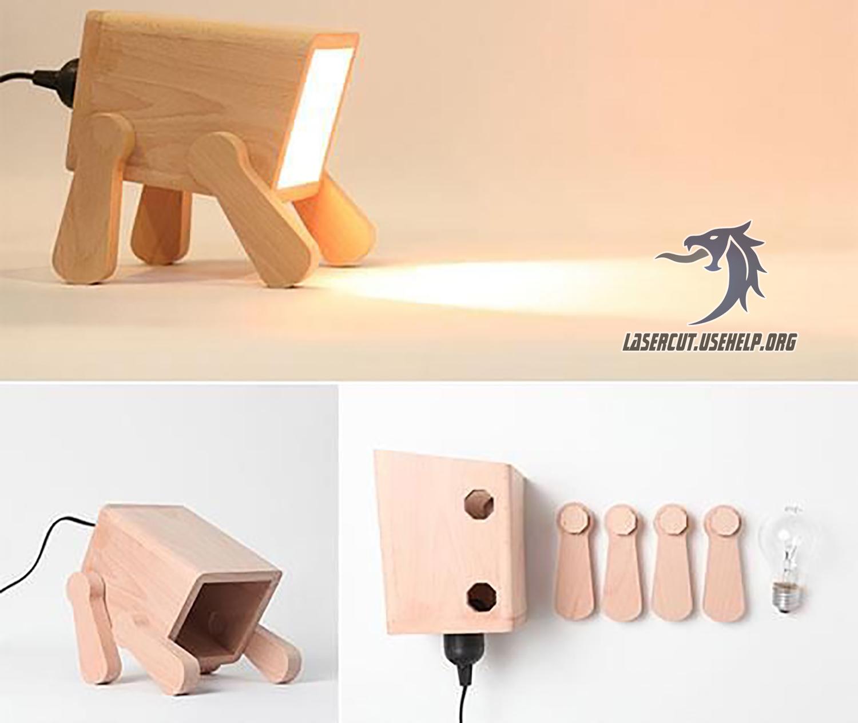 Макет светильник мини из фанеры