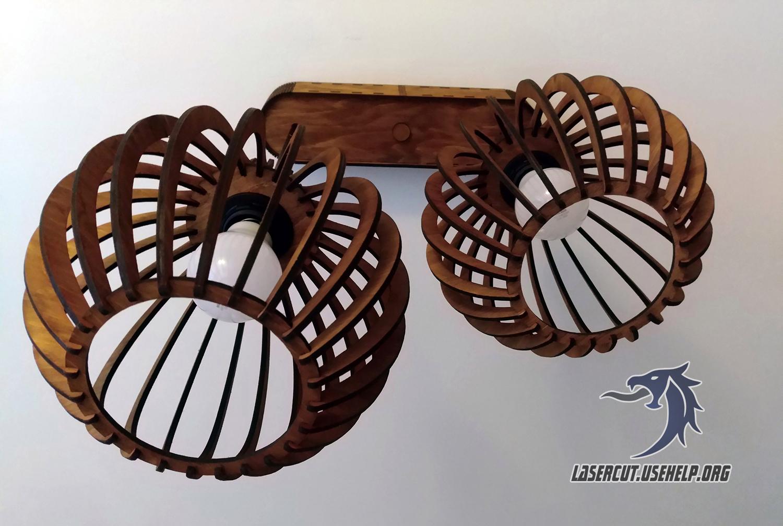 Макет Люстра на два светильника из фанеры