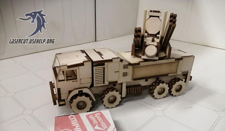 Макет военный авто