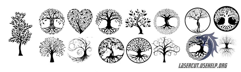 Макет гравировка Деревья (1)