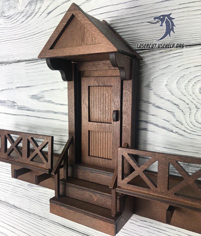 Макет ключница Дверь с забором