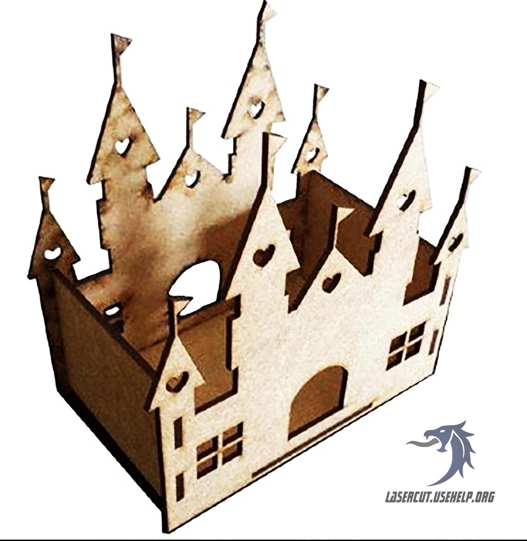 Макет конфетница Замок