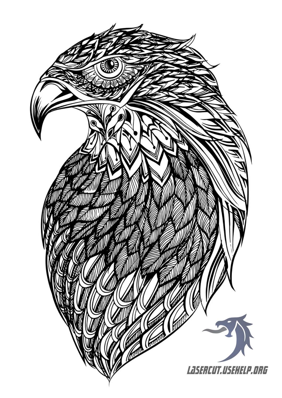 Макет панно Орёл