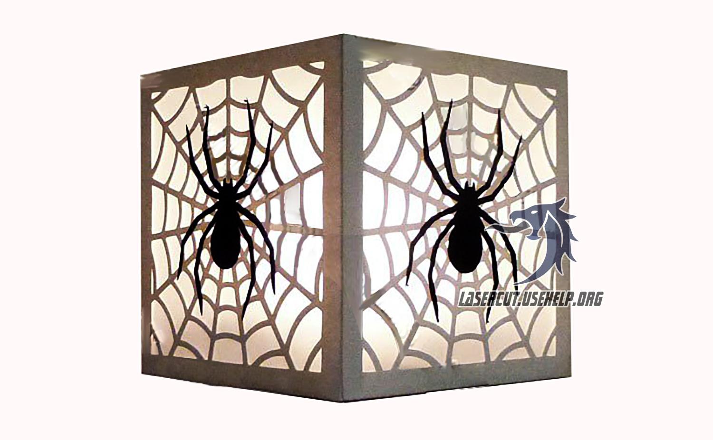 Макет ночник Паук на паутине